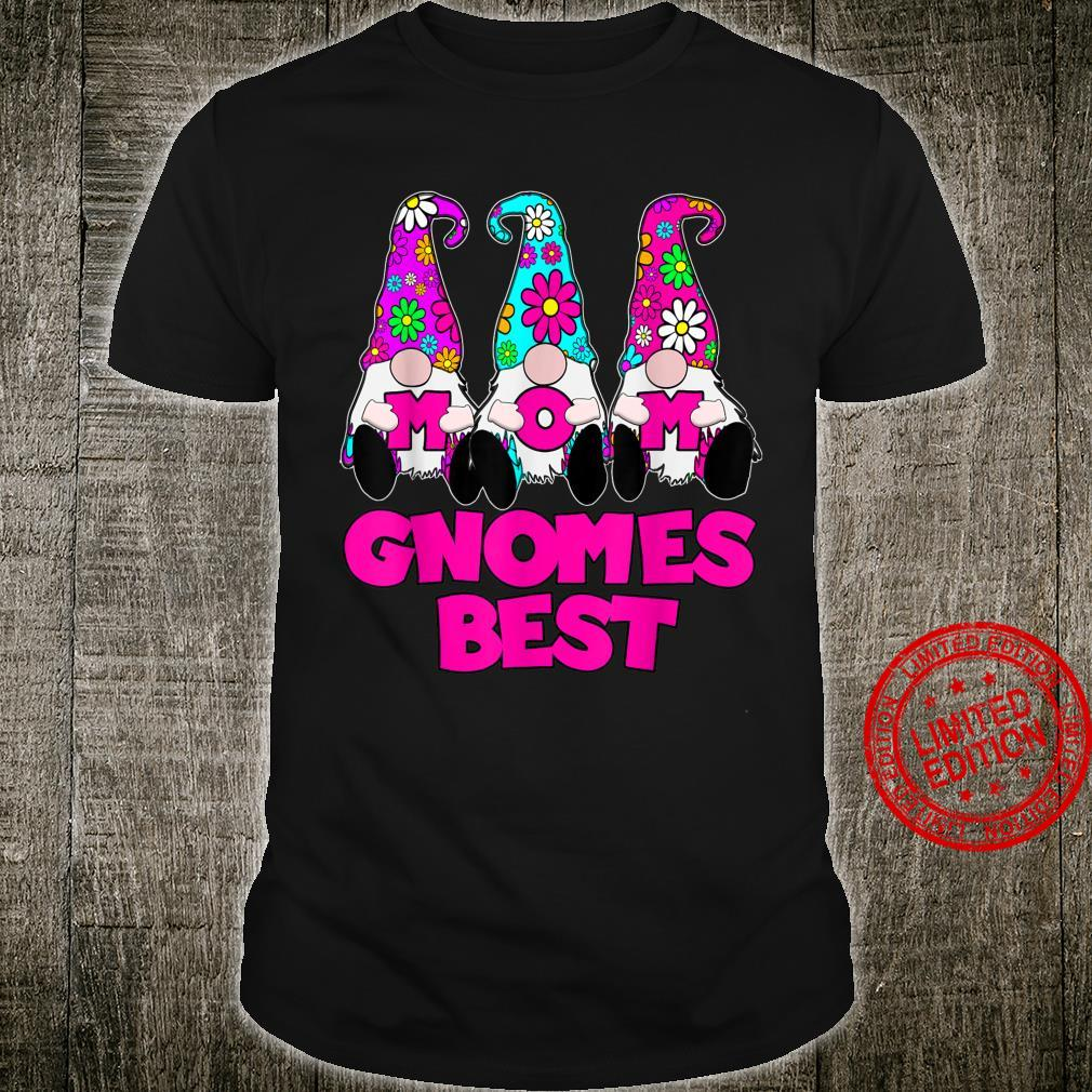3 Cute Mom Gnomes Best Daisy Flowers Hat Mother Gnomies Shirt