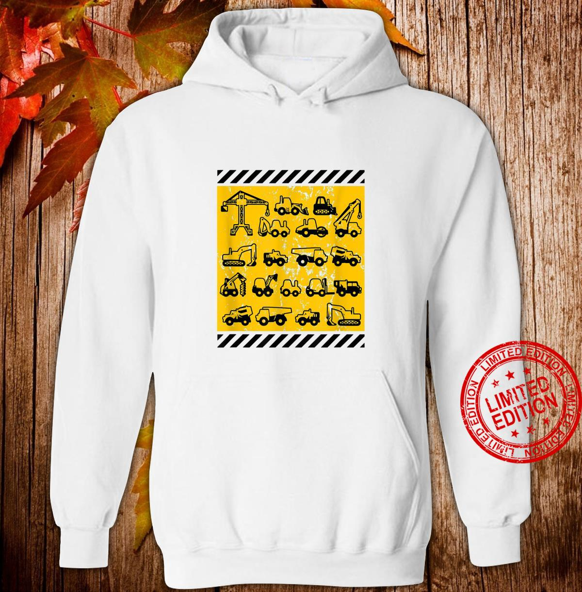 Construction Heavy Equipment Earth Movers Shirt hoodie