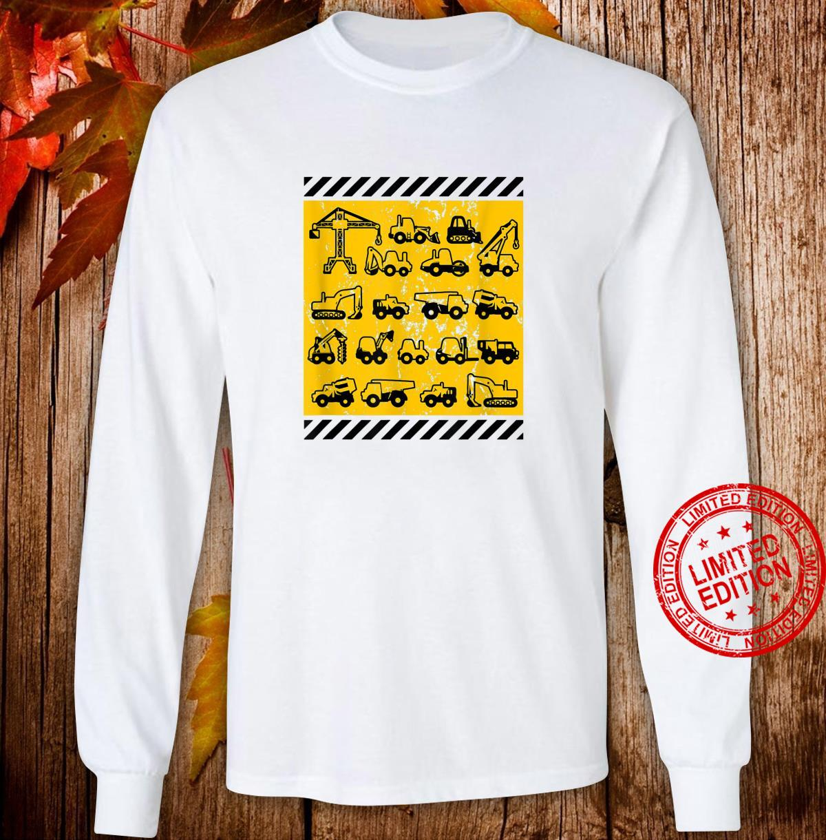 Construction Heavy Equipment Earth Movers Shirt long sleeved