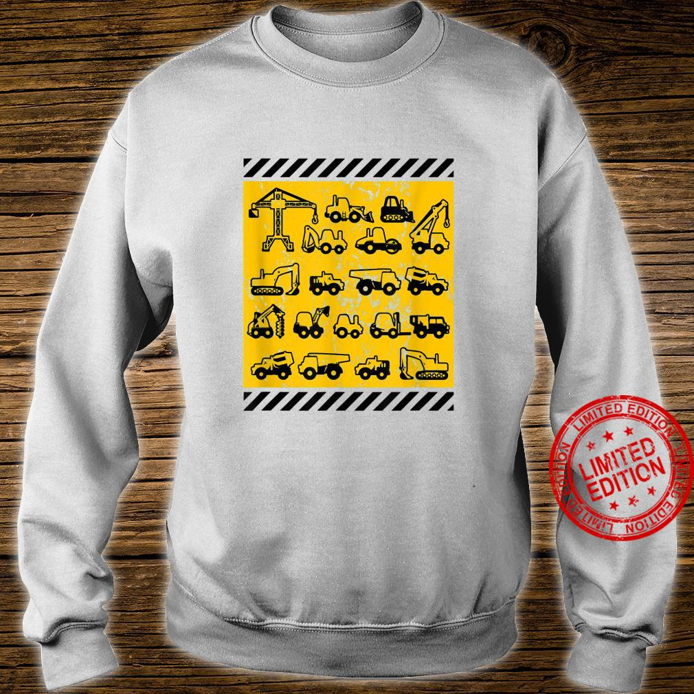 Construction Heavy Equipment Earth Movers Shirt sweater