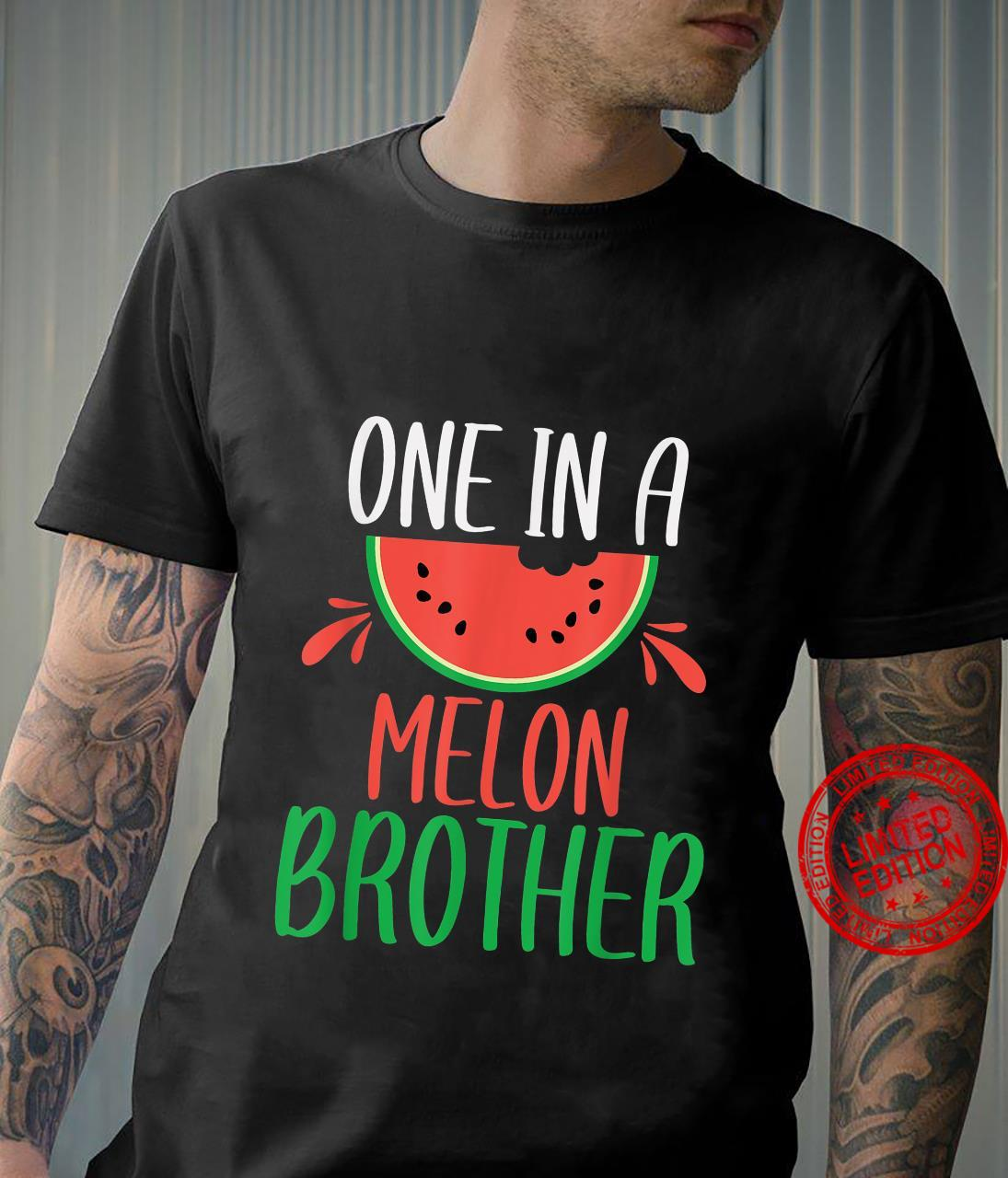 One in a Melon Brother Matching Family Watermelon Shirt